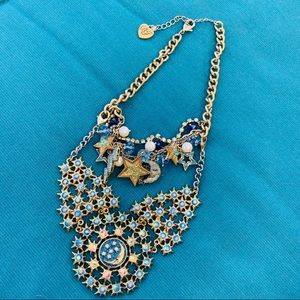 Betsey Johnson Jewelry - Retired Betsey Johnson Stars Moon Heavens BIB